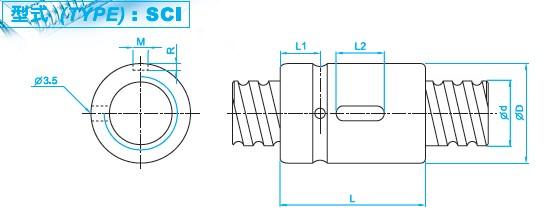 SCI8010滚珠丝杠图